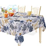 YEMYHOM Modern Printed Spill Proof Cloth Rectangle Tablecloth (60 x 84, Blue Tree) (Color: Blue Tree, Tamaño: 60 x 84