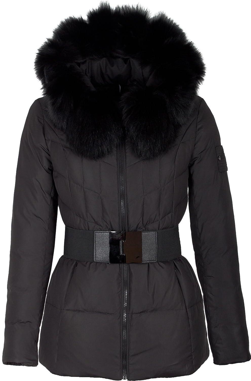 "V135 Damen Daunenmantel ""MISUN"" mit Echtfellkapuze inkl. Handschuhe schwarz (Länge ca.68cm) online bestellen"