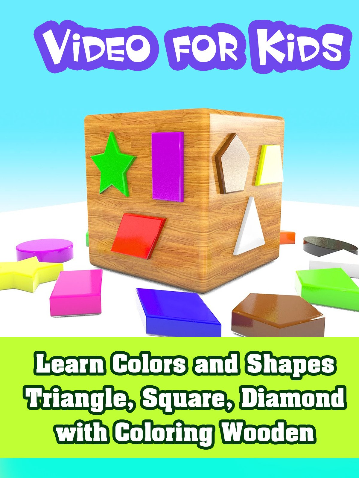 Learn Colors and Shapes Triangle, Square, Diamond with Сoloring Wooden