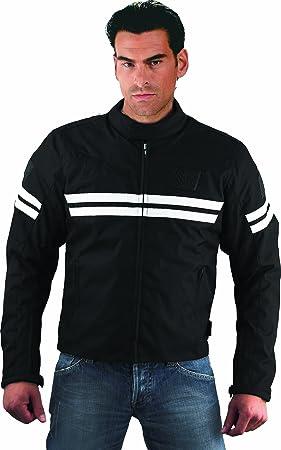 Römer 8434 Blouson Moto Textile Ascot, Noir/Blanc, L