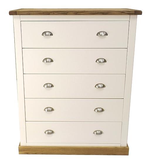 Inserto armadietto a  cassetti con maniglia cromata/quadrato gonna, legno, bianco