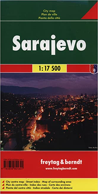 Sarajevo Map (City Map) (English, French, Italian and German Edition)