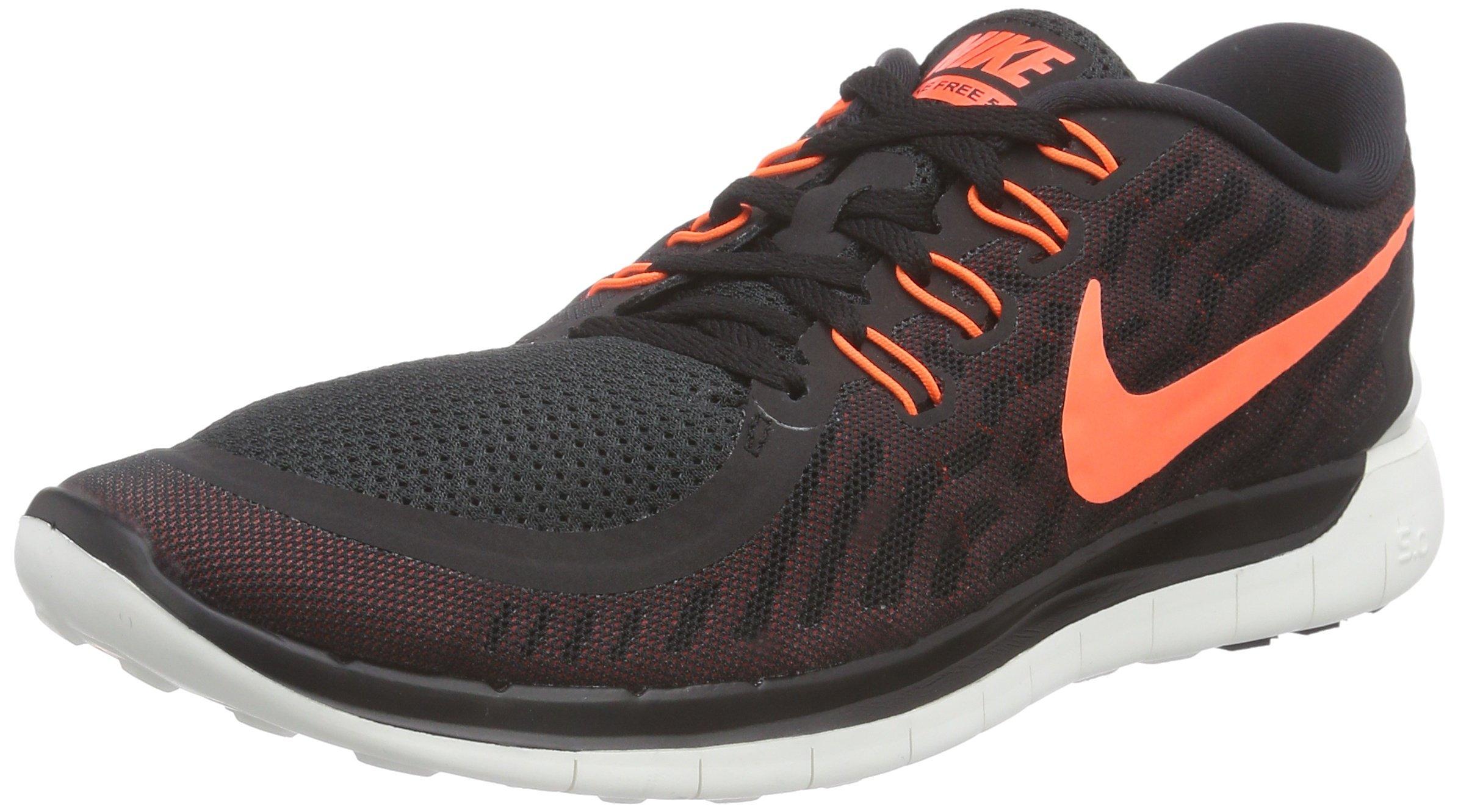 Men\u0026#39;s Nike Free 5.0 Running Shoe Black/University Red/White/Hyper Orange Size