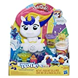 Play-Doh Tootie The Unicorn Ice Cream Set with 3 Non-Toxic Colors Featuring Color Swirl Compound (Color: Brown/a, Tamaño: Standard)