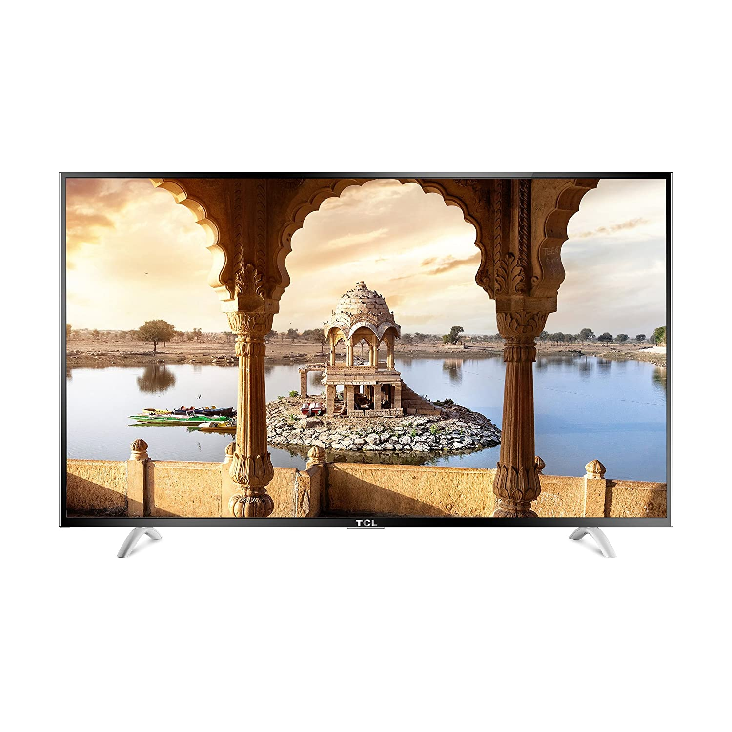 TCL 139.7 cm (55 inches) L55P1US 4K Ultra HD Smart LED TV (Black) By Amazon @ Rs.45,990