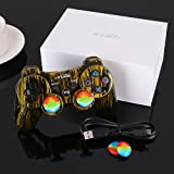 PS3 Controller Wireless PS3 Games Remote - KLNO Sixaxis Dualshock Gamepad,Best Gifts for Kids,Son,Father in Family Playing with USB Charger Cable,for SONY original Playstation 3(Brassiness) (Color: Brassiness)