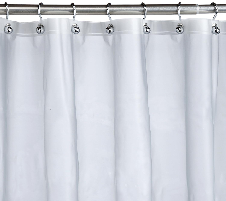 Basics Mildew Resistant Shower Curtain Liner W Rust Proof Grommets Frost New Ebay