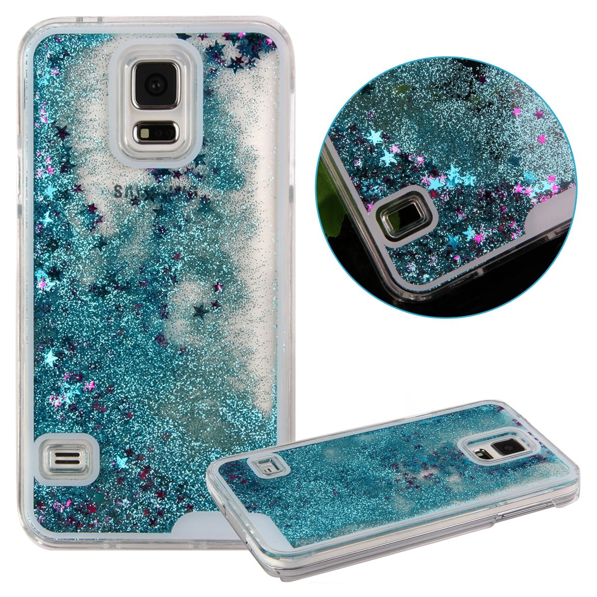 Liquid Glitter Water Stars Bling Sparkly Case Cover For ...