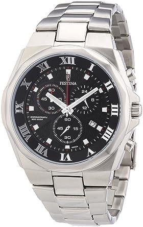 73f3b176af Festina - F6818/4 - Montre Homme - Quartz Chronographe - Chronographe -  Bracelet Acier Inoxydable Argent