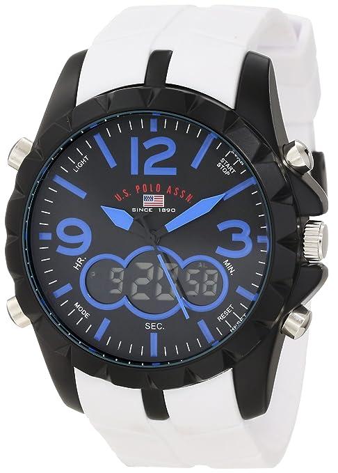 U-S-Polo-Assn-Sport-Men-s-US9240-White-Analog-Digital-Strap-Watch
