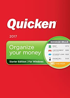 Quicken Starter Edition 2017 Personal Finance & Budgeting Software [Download]