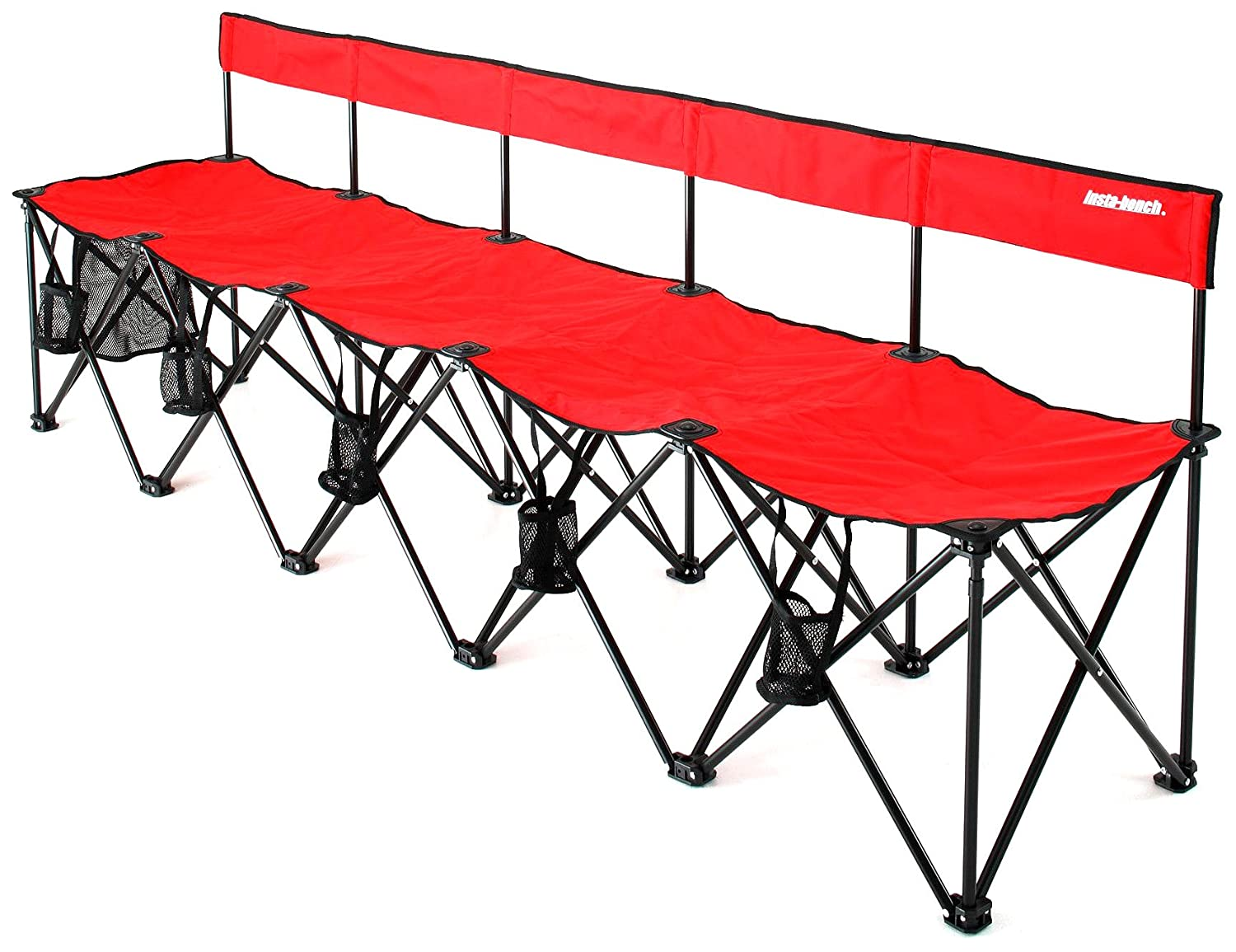 Best Collapsible Portable Folding Soccer Team Bench 6 Seat