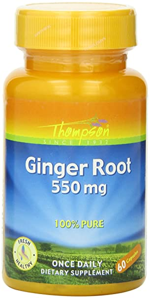 Отзывы Thompson Ginger Root Capsules, 550 Mg, 60 Count