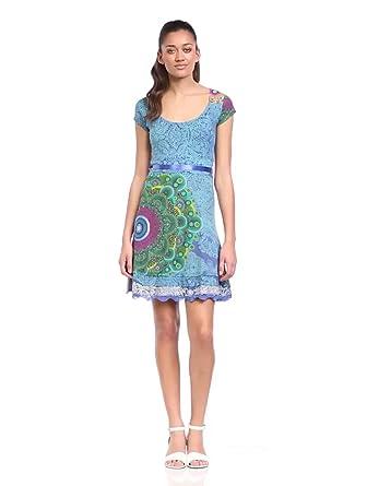 Desigual - yolanda - robe - été - femme - bleu (royal) - s