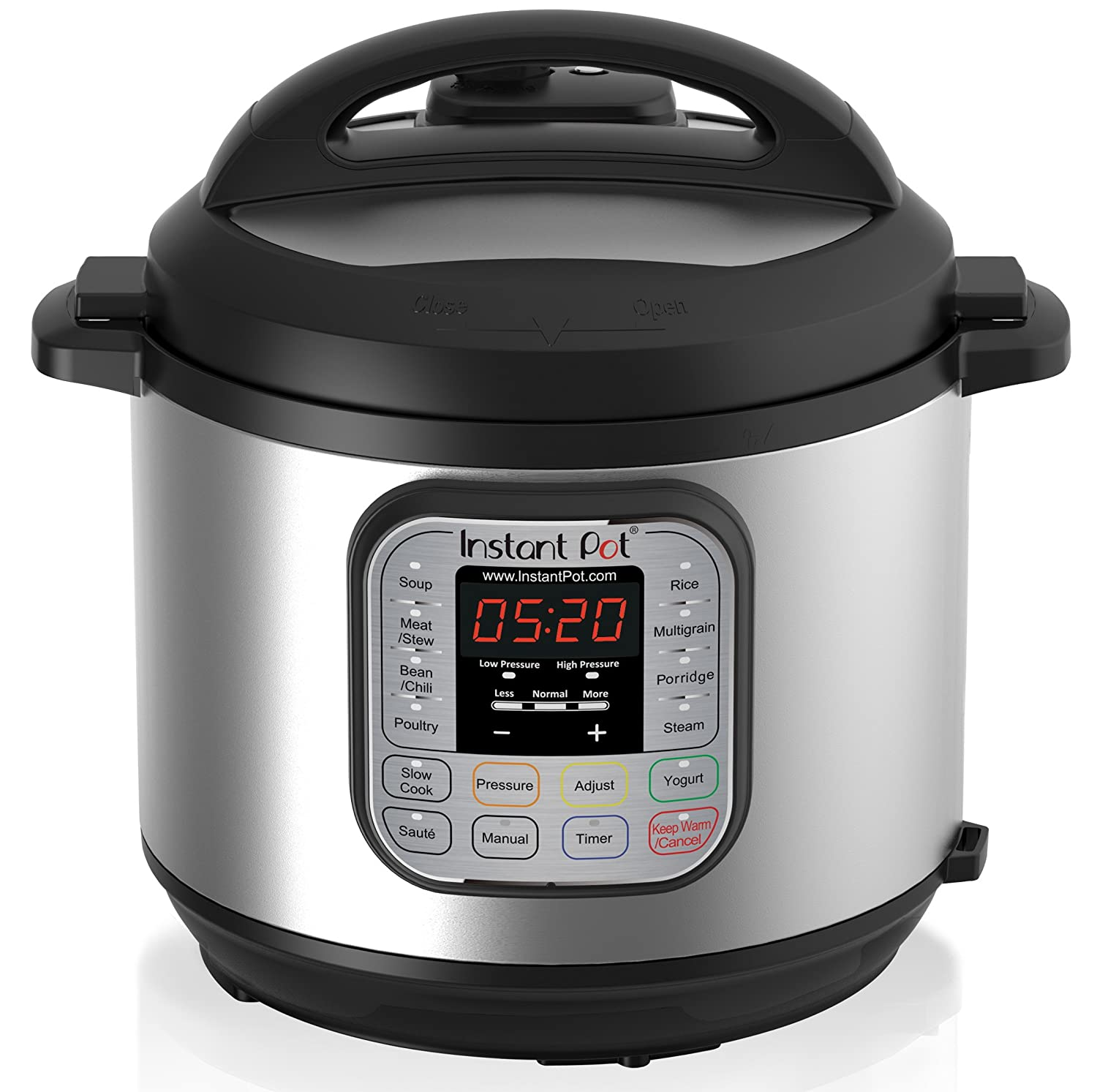 <b>Instant Pot IP-DUO60 7-in-1</b> Programmable Pressure Cooker, 6Qt/1000W, Stainless Steel Cooking Pot and Exterior, Latest 3rd Generation Technology