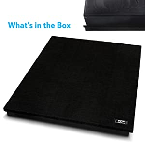 Audio Acoustic Noise Isolation Platform Pads Recoil Stabilizer w// Rubber Base Pad For Studio Monitor Loudspeakers 22.5 x 17.8 x 1.8 Inch Subwoofer Sound Dampening Speaker Riser Foam Pyle PSI12