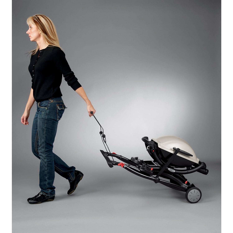 weber 6557 q portable cart for grilling new free. Black Bedroom Furniture Sets. Home Design Ideas