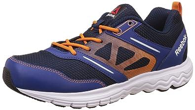 Reebok Men's Fuel Race Dark Blue, Blue, Orange and White Running Shoes 10
