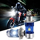 RCP UHLH4- H4(HB2/9003) LED Headlight Bulb 2 Sides Glow, H/L High Low Dual Beam, 8000LM 6500K White Super Bright For Vehicle/Motorcycle/Truck - 2 Yrs Warranty (Color: 2PCS Exclusive Version, Tamaño: H4(HB2/9003))