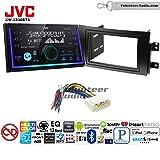 Volunteer Audio JVC KW-X830BTS Double Din Radio Install Kit with Bluetooth SiriusXM Ready Fits 2007-2013 Suzuki SX4