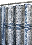 Park B. Smith Medallion Tiles Watershed Shower Curtain, Ocean Blue/White