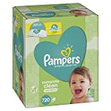 Pampers Baby Wipes Complete Clean Unscented 10X Refills, 720 Count (Tamaño: 10 Refill Packs, 720 Count)