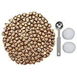 Sealing Wax Beads, Yoption 150 Pieces Heart Shape Wax Seal Beads with a Wax Melting Spoon and 2 Pieces Candles for Wax Seal Stamp (Color: Bronze)