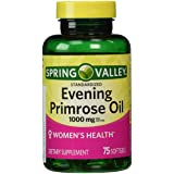 Spring Valley - Evening Primrose Oil 1000 mg, 75 Softgels (Color: Count, Tamaño: 1)