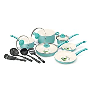 GreenLife 14 Piece Nonstick Ceramic Cookware Set with Soft Grip Review