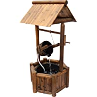 Stonegate Designs Rustic-Style Wishing Well Fountain