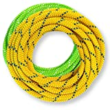 OmniProGear 8mm x 11 feet Prusik Cord Lime & 8mm x 11 feet Yellow Made IN USA MBS 16.44kN (3700lbs) (Color: Lime / Yellow, Tamaño: 8mm)