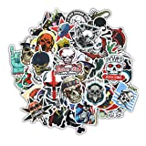 Gumind Sugar Skull Stickers Pack 100 PCS Include Zombie Skeletons And Ghosts Pattern For Laptops, Cars, Motorcycles, Bicycles, Luggage, Graffiti, Skateboard Stickers Hippie Decals Bomb Waterproof (Color: series-1, Tamaño: 6-12cm)