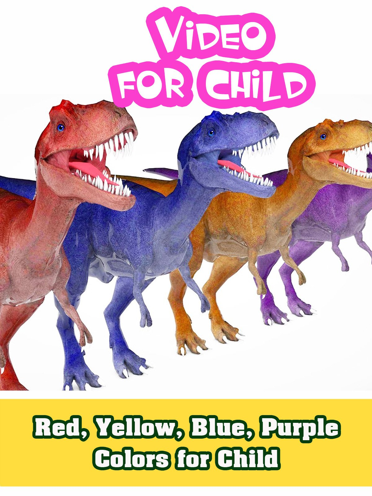 Red, Yellow, Blue, Purple Colors for Child