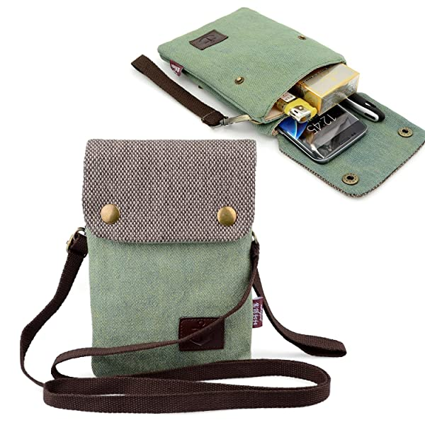 online store bc572 95c72 Dlames Canvas Small Cute Crossbody Cell Phone Purse Wallet Bag with ...
