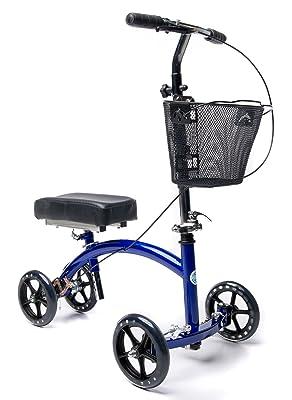 Deluxe Steerable Knee Walker Knee Scooter Crutch Alternative Review