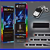 OCPTY 6Pack Motorcycle LED Light Kit Strips with Remote Controller Multi-Color Strips 3-5050-RGB Accent Glow Neon Lights Lamp fit for Polaris KTM BMW Harley Davidson Honda Kawasaki Suzuki Ducati (Color: 6pcs 10cm 3RGB with Remote Controller)