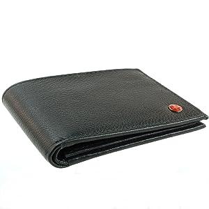 2019d4658 Billetera para hombre Alpine Swiss de cuero genuino, delgada del tirón de  salida, color negra.