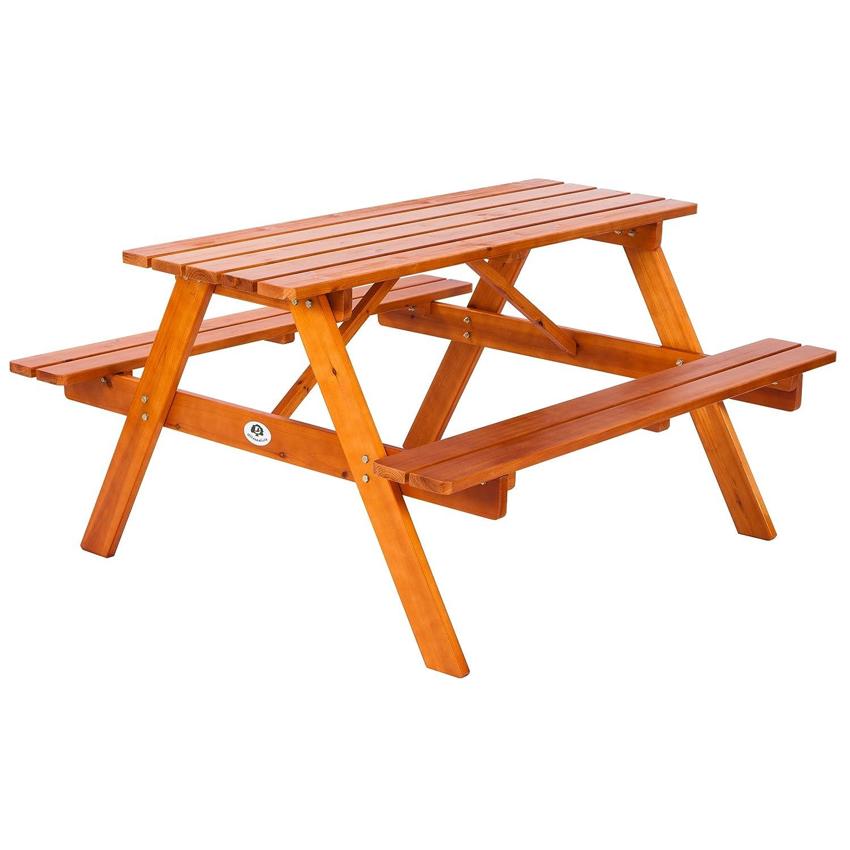 Ultranatura Picknicktisch-Kombination mit Bänken Lüneburg – 138 x 130 x 75 cm online bestellen