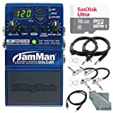 DigiTech JamMan Solo XT Looper Pedal w/USB and microSDHC Slot and 16GB Card + Deluxe Bundle