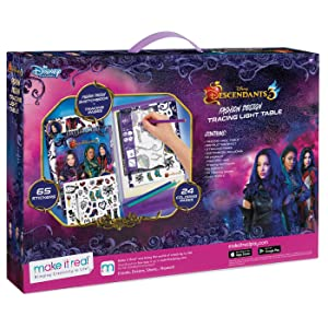 Make It Real Disney Descendants 3 Sketchbook With Tracing Light Table Fashion Design Tracing And Drawing