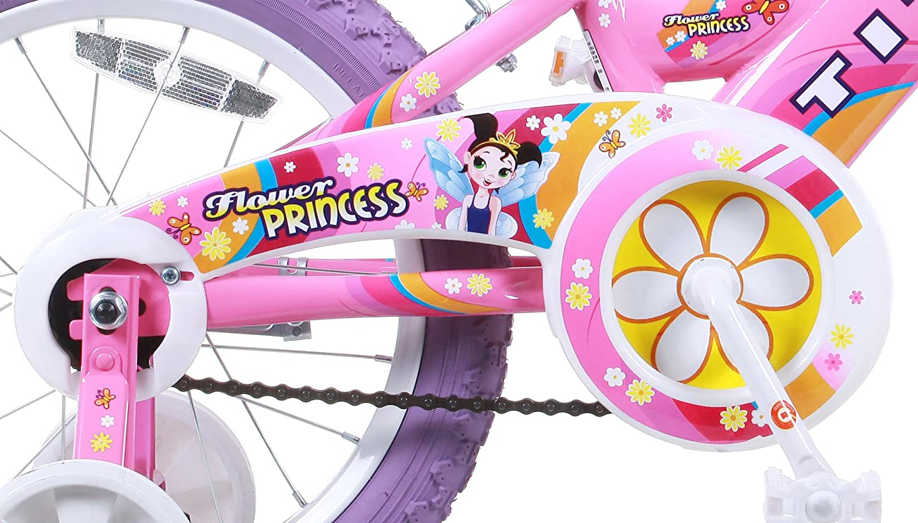 Titan Girl's Flower Princess BMX Bike, Pink, 16-Inch 4
