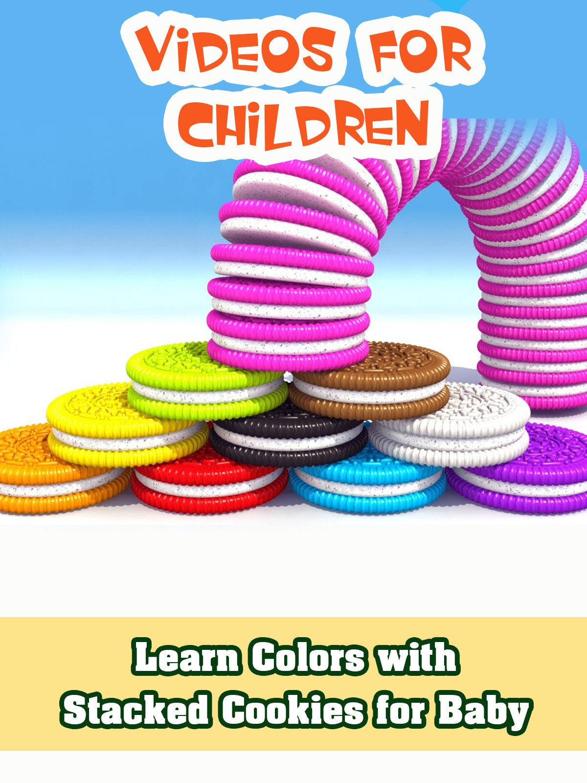 Learn Colors with Stacked Cookies for Baby