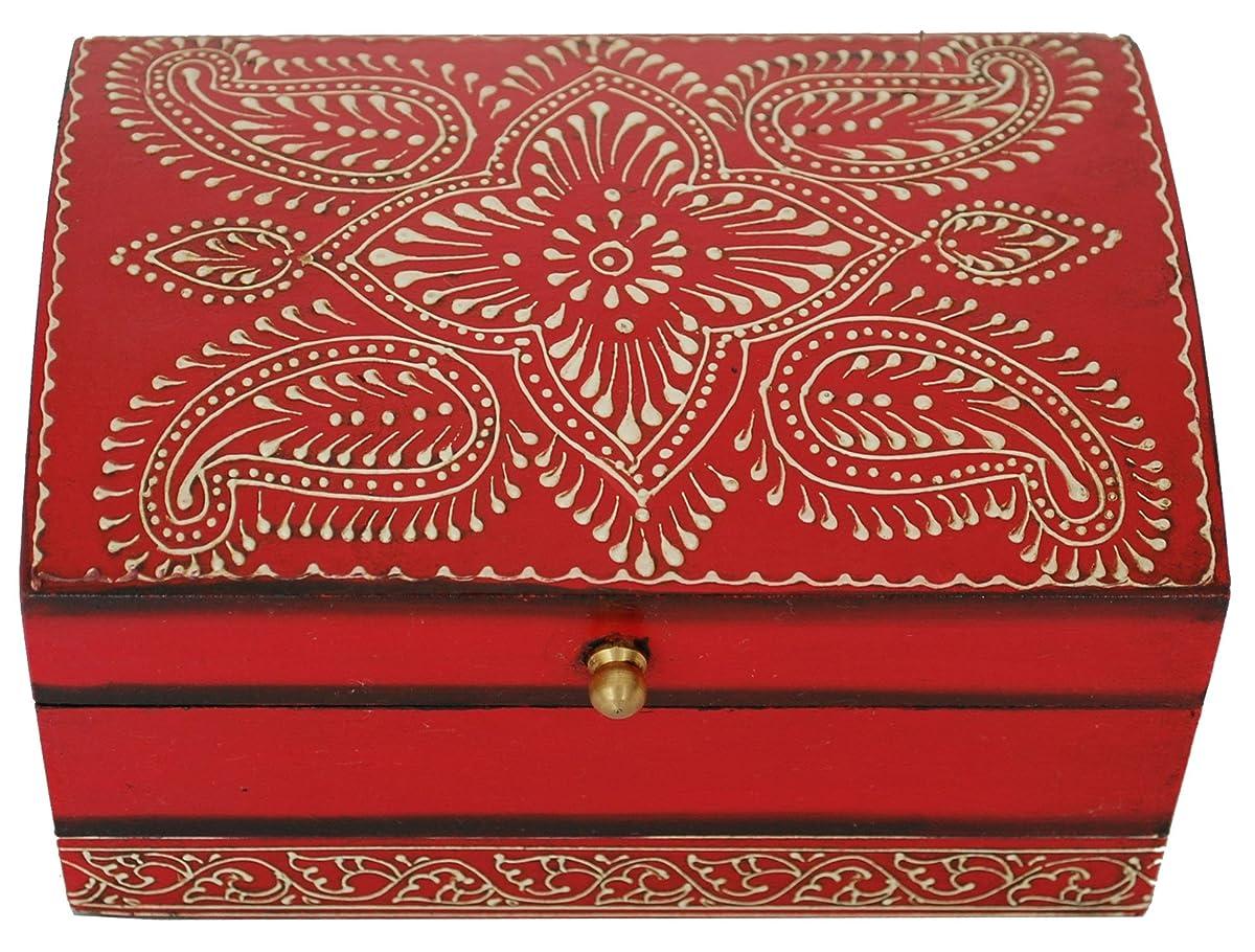 Chest Decorative Wood Keepsake Storage Jewelry Storage Box  sc 1 st  Review Homkit & Red Jewelry Box - SouvNear Treasure Chest Decorative Wood Keepsake ... Aboutintivar.Com