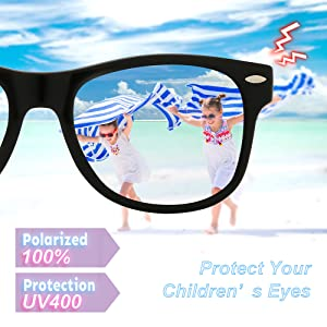 99c014d91ad RIVBOS Rubber Kids Polarized Sunglasses with Strap Glasses Shades for Boys  Girls Baby and Children Age ...