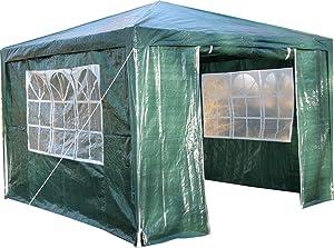 Airwave Pavillon 3 x 3 m, grün, Inklusive 1 x einzigartig gestalteter Windstangen für besondere Stabilität Überprüfung und Beschreibung