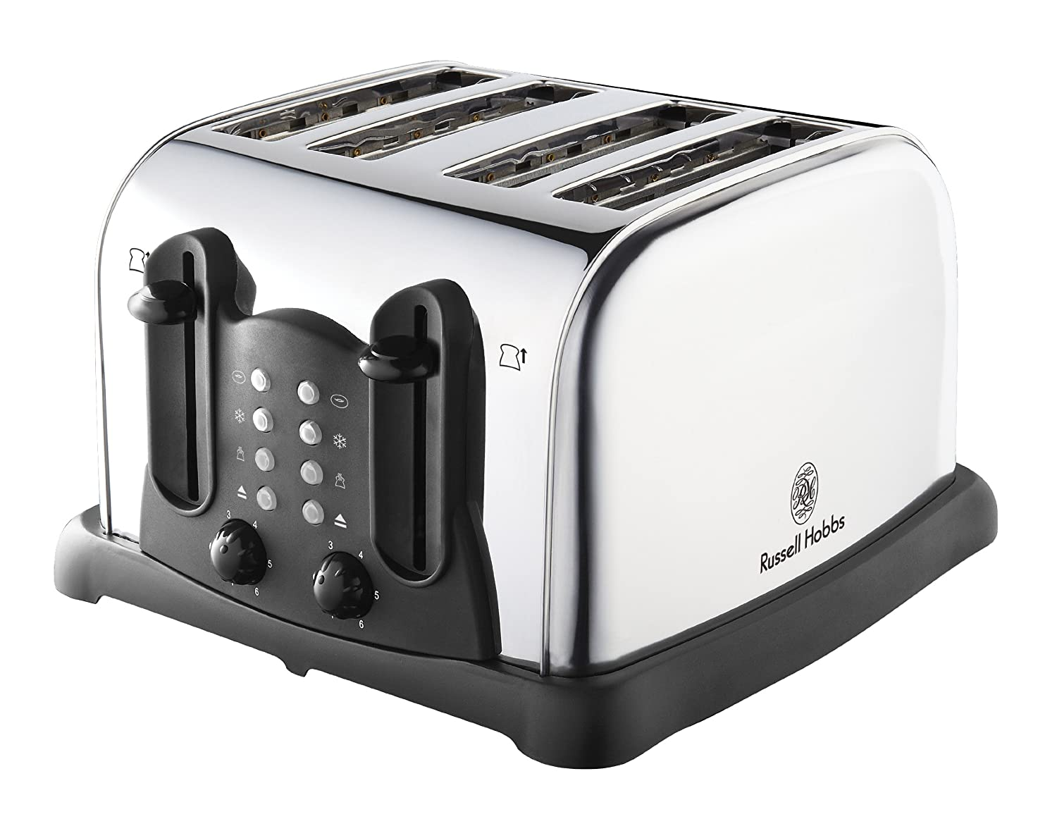 russell hobbs 18099 edelstahl silber 4 scheiben toaster k chenger t grill ebay. Black Bedroom Furniture Sets. Home Design Ideas