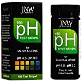 pH Test Strips for Saliva and Urine, Best Kit for Accurate Body Alkaline and Acid Levels, 150 Strip MEGA Pack