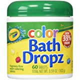 Crayola Color Bath Dropz 3.59 Ounce (60 Tablets) (Color: Assorted, Tamaño: 3.59 Ounce)