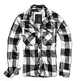 Brandit Men's Check Shirt White/Black Size M (Color: White / Black, Tamaño: Medium)