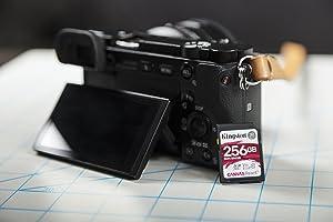 Kingston Canvas React 256GB SDXC Class 10 SD Memory Card UHS-I 100MB/s R Flash Memory High Speed SD Card (SDR/256GB) (Tamaño: 256GB)